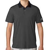 adidas Boys' Micro Stripe Print Golf Polo