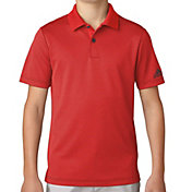 adidas Boys' Micro Stripe Print Golf Polo
