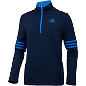adidas Boys' Pursuit Half Zip Long Sleeve Shirt