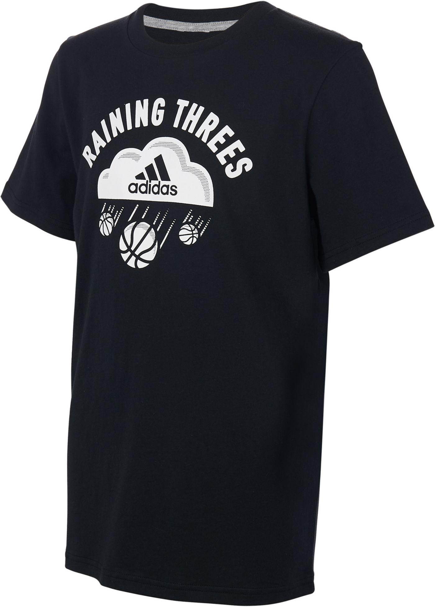 adidas Boys' Raining Three's Graphic T-Shirt