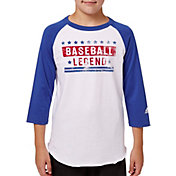 adidas Boys' ¾ Sleeve Baseball Graphic Shirt