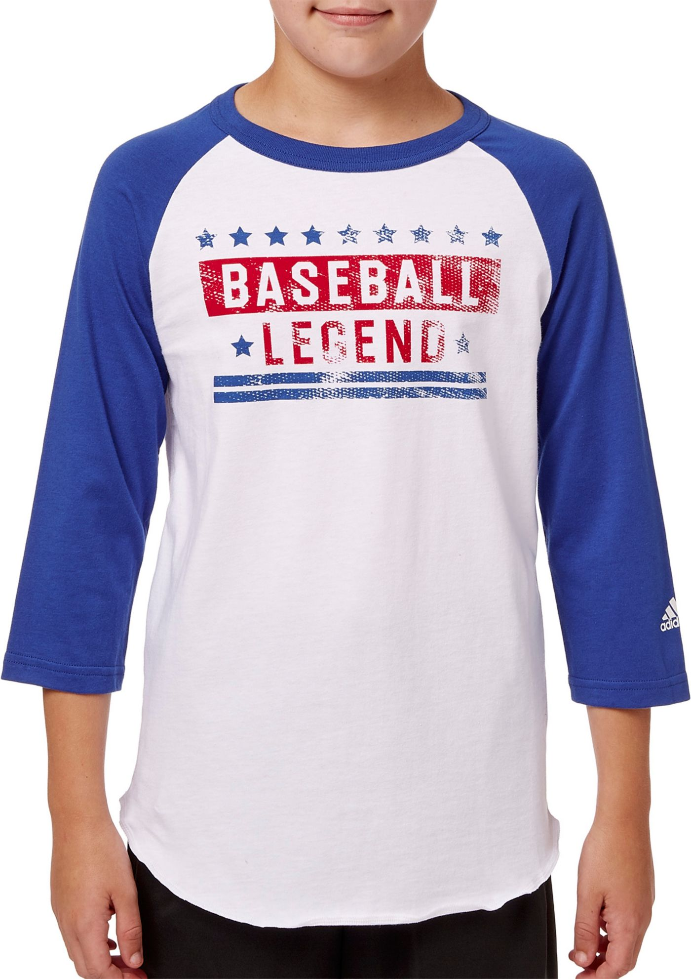 adidas Boys' ¾ Sleeve Baseball Graphic Shirt