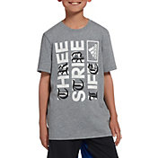 adidas Boys' Three Stripe Life Graphic T-Shirt
