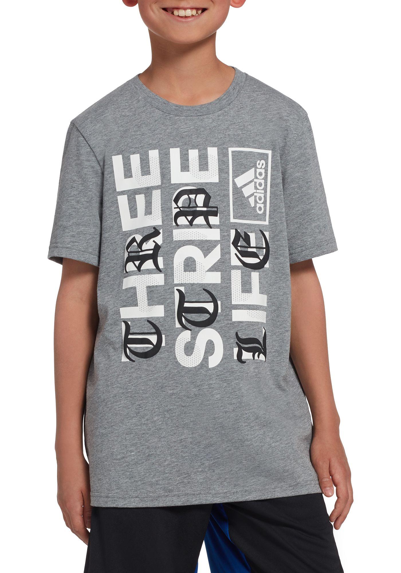 adidas Boys' Three Stripe Life Graphic T-Shirt