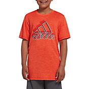 super popular 8ce77 99021 Product Image · adidas Boys  Melange T-Shirt · Active Orange · Blue · Lime  · Med Grey Heather ...