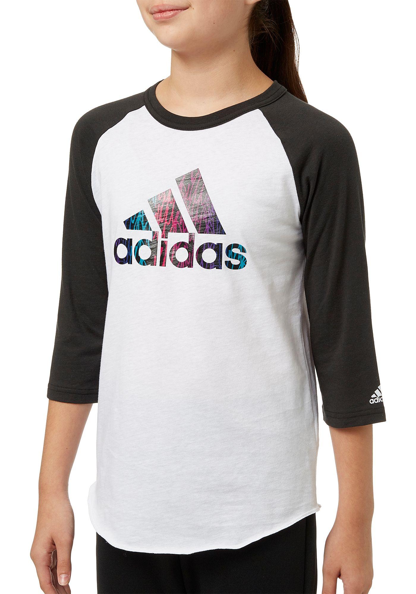 adidas Girls' Destiny ¾ Sleeve Softball Graphic Shirt