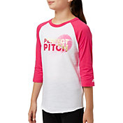 adidas Girls' Destiny ¾ Sleeve Softball Graphic Shirt