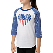 adidas Girls' Destiny ¾ Sleeve Printed Softball Graphic Shirt
