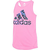 adidas Girls' Focus Graphic Tank Top