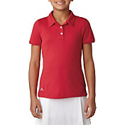 adidas Girls' Short Sleeve Performance Golf Polo