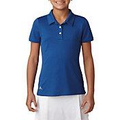 adidas Girls' Short Sleeve Performance Golf Polo