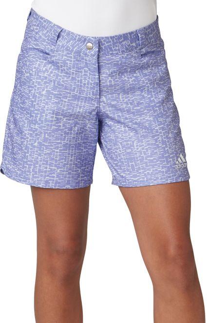 adidas Girls' Printed Golf Shorts
