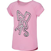 adidas Girls' Raglan Graphic T-Shirt