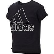 adidas Girls' Cropped Short Sleeve Sweatshirt