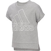 adidas Girls' Cropped Short Sleeve Sweatshirt