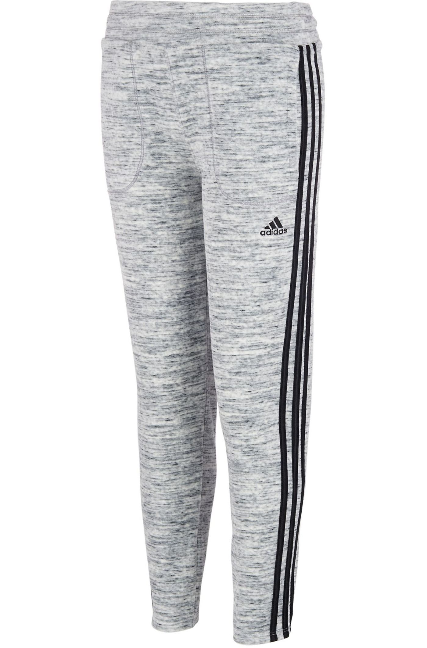 adidas Girls' Velour Heathered Tapered Pants