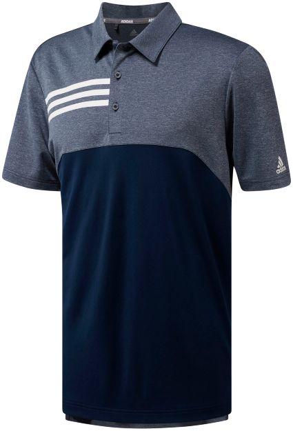 adidas Men's 3-Stripe Heather Block Golf Polo