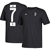 adidas Men's Juventus Cristiano Ronaldo #7 Black Player T-Shirt
