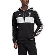 adidas Men's Juventus Crest Black Full-Zip Hoodie