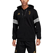 adidas Men's Juventus Black Full-Zip Hoodie