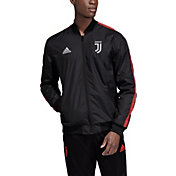 adidas Men's Juventus Anthem Black Full-Zip Jacket