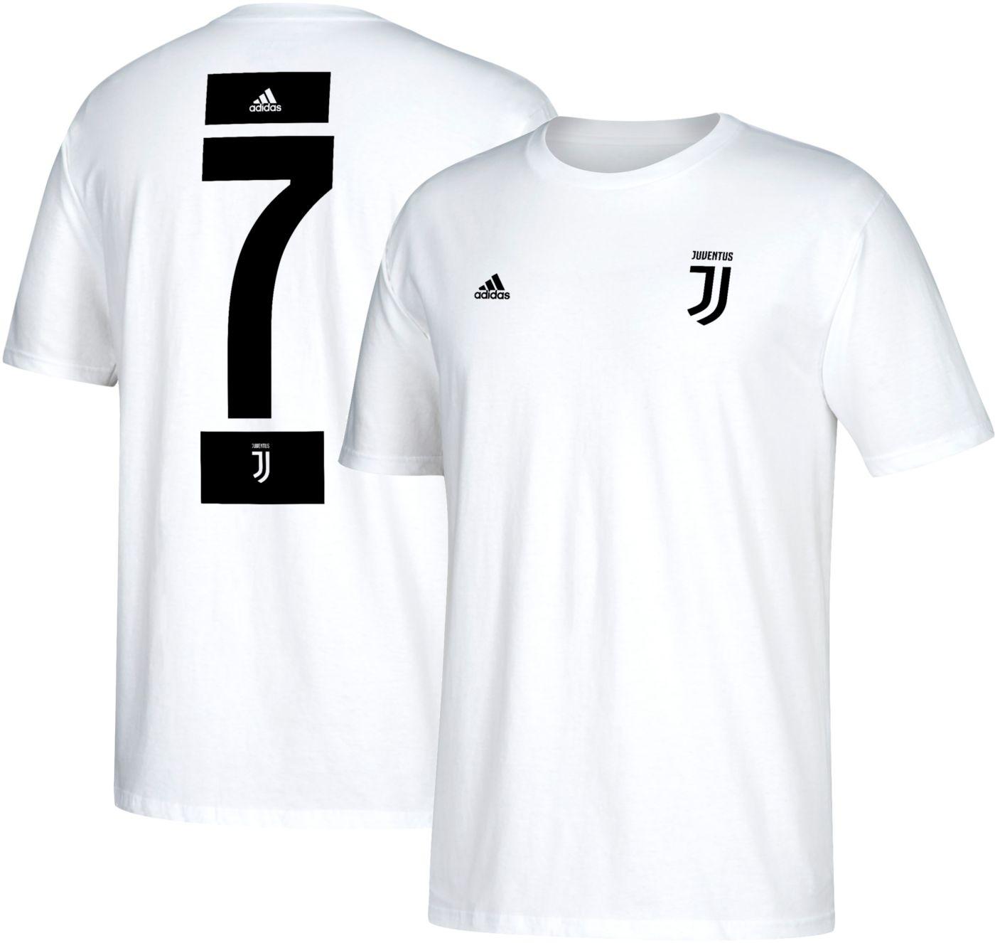 adidas Men's Juventus Cristiano Ronaldo #7 White Player T-Shirt