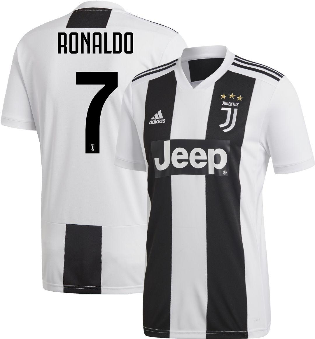 newest d754e d210d adidas Men's Juventus Cristiano Ronaldo #7 Stadium Home Replica Jersey
