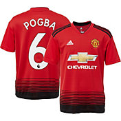 adidas Youth Manchester United Paul Pogba #6 2018 Stadium Home Replica Jersey