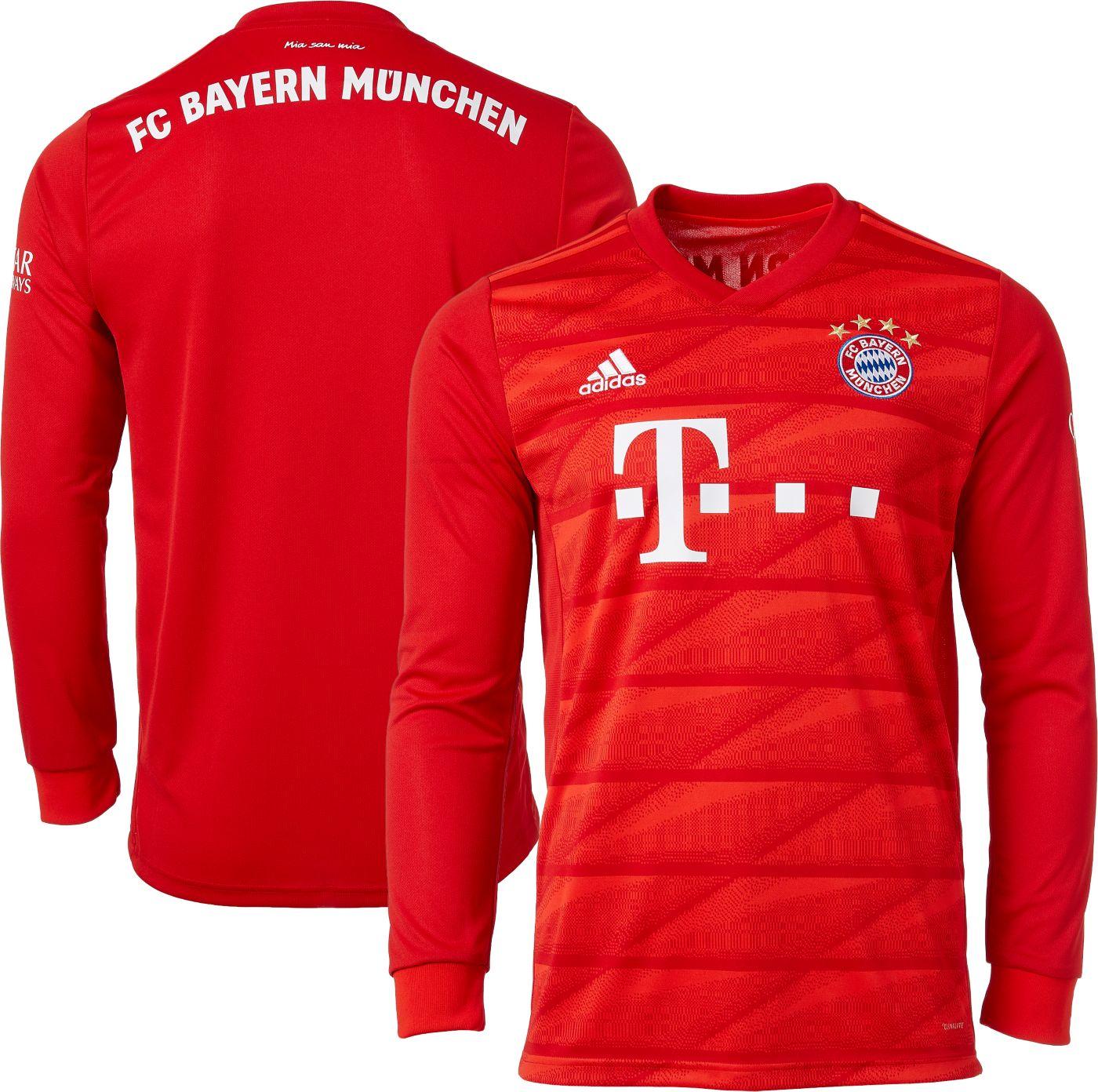 adidas Men's Bayern Munich '19 Stadium Home Replica Long Sleeve Jersey