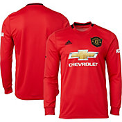 adidas Men's Manchester United '19 Stadium Home Replica Long Sleeve Jersey