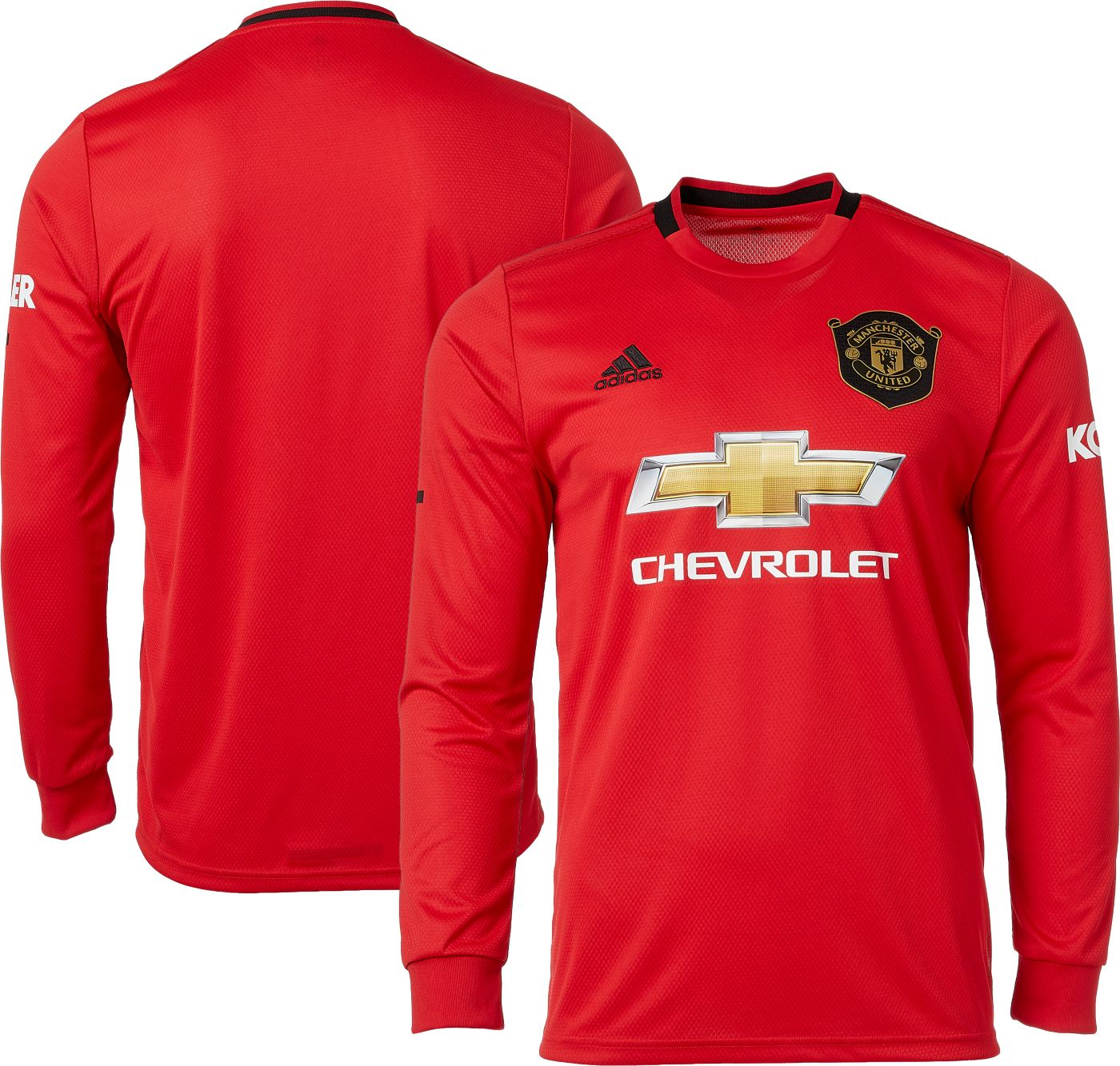 adidas Men's Manchester United '19 Stadium Home Replica Long Sleeve Jersey