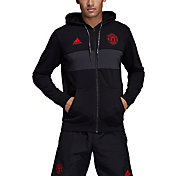 adidas Men's Manchester United Black Full-Zip Hoodie
