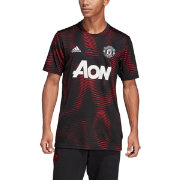 adidas Men's Manchester United Home Black Prematch Top