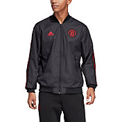 adidas Men's Manchester United Anthem Black Jacket