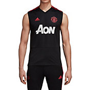 adidas Men's Manchester United Black Performance Training Jersey