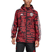 adidas Men's Manchester United Windbreaker Black Jacket
