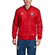 adidas Men's Bayern Munich Anthem Red Full-Zip Jacket