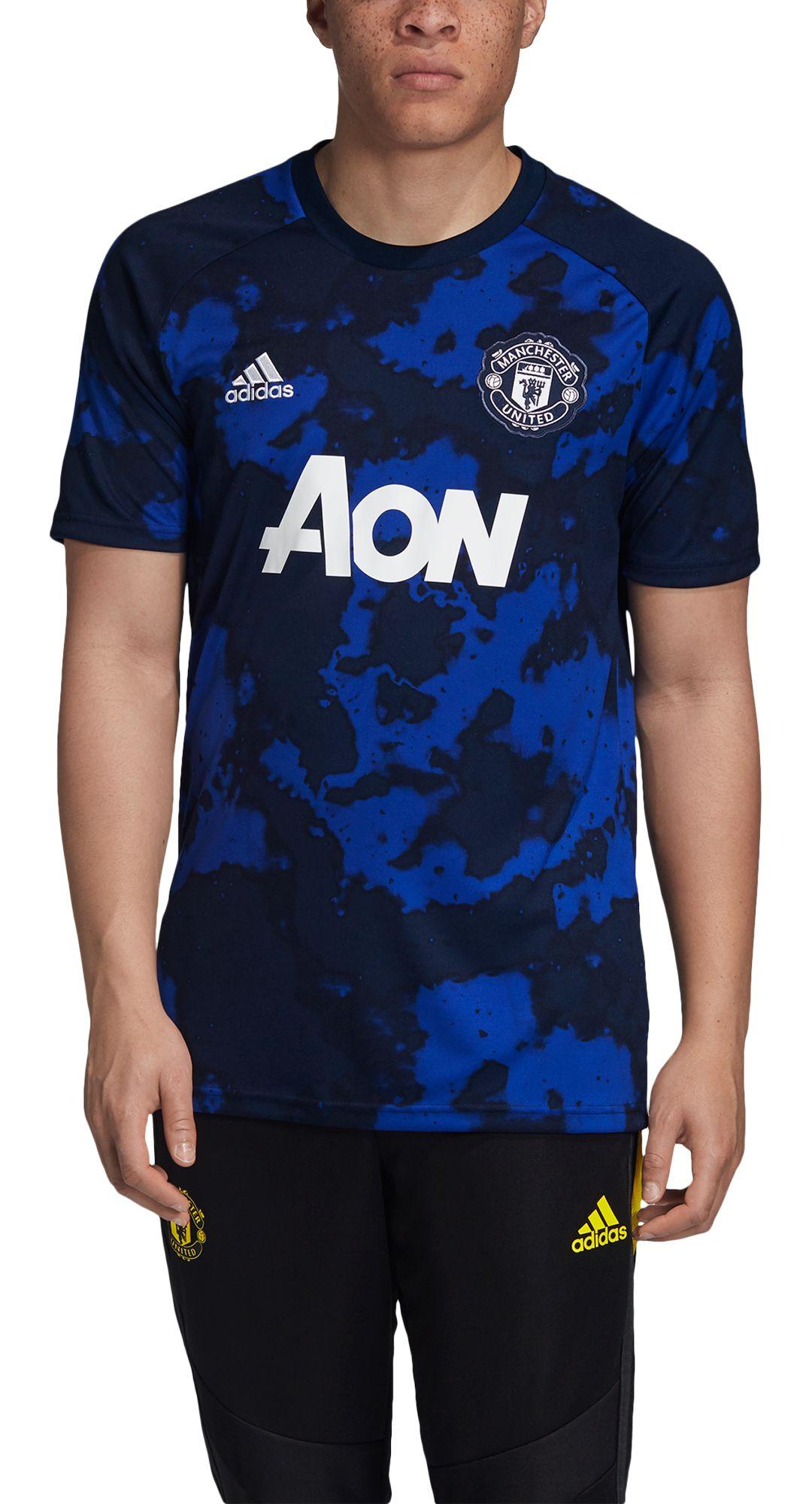 f49e554cf adidas Men's Manchester United Blue Preshirt