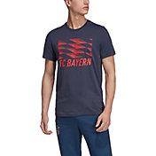 adidas Men's Bayern Munich DNA Graphic Blue T-Shirt