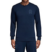 adidas Men's Manchester United Graphic Navy Sweatshirt