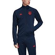 adidas Men's Bayern Munich Icons Red Full-Zip Jacket