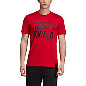adidas Men's Manchester United DNA Graphic Red T-Shirt