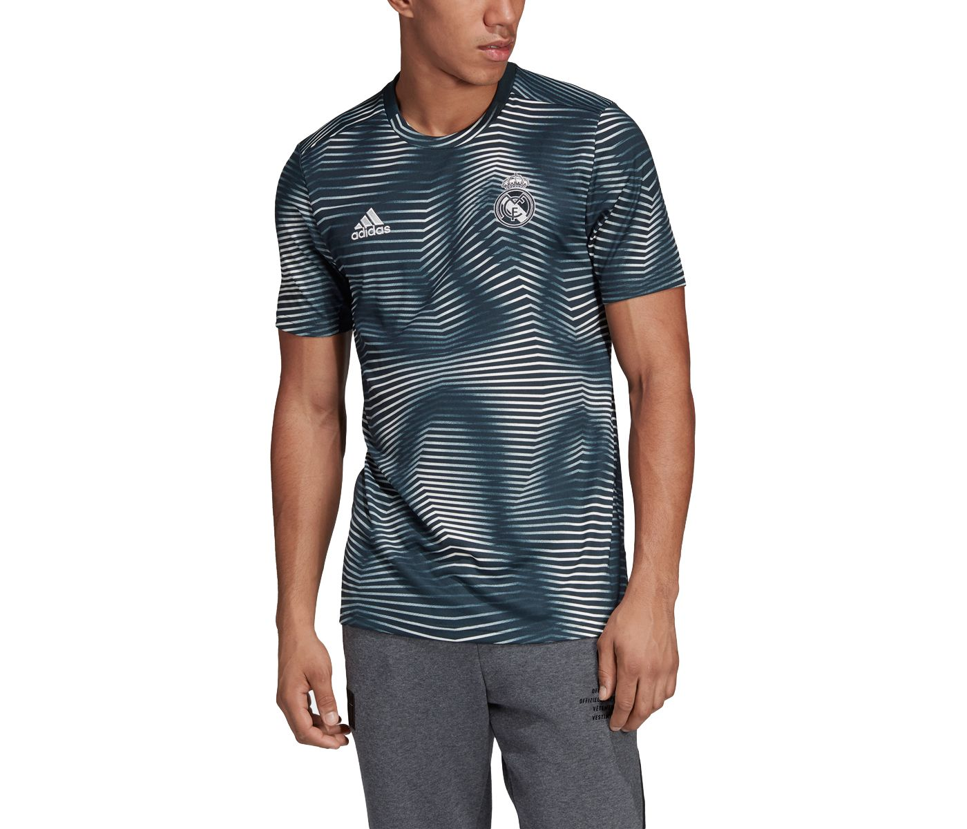 adidas Men's Real Madrid Home Blue Prematch Top