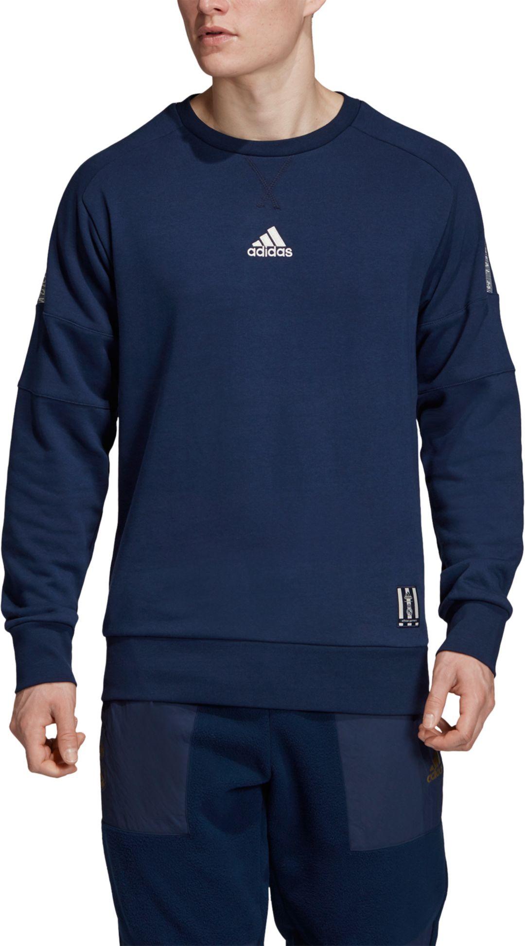Madrid Real Sweatshirt Men's Navy Crew Adidas Neck Ssp 4Rj5L3A