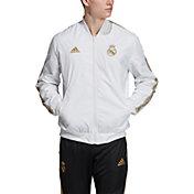 adidas Men's Real Madrid Anthem White Full-Zip Jacket