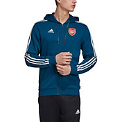 adidas Men's Arsenal Crest Blue Full-Zip Hoodie
