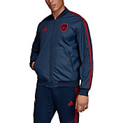 adidas Men's Arsenal Anthem Navy Full-Zip Jacket