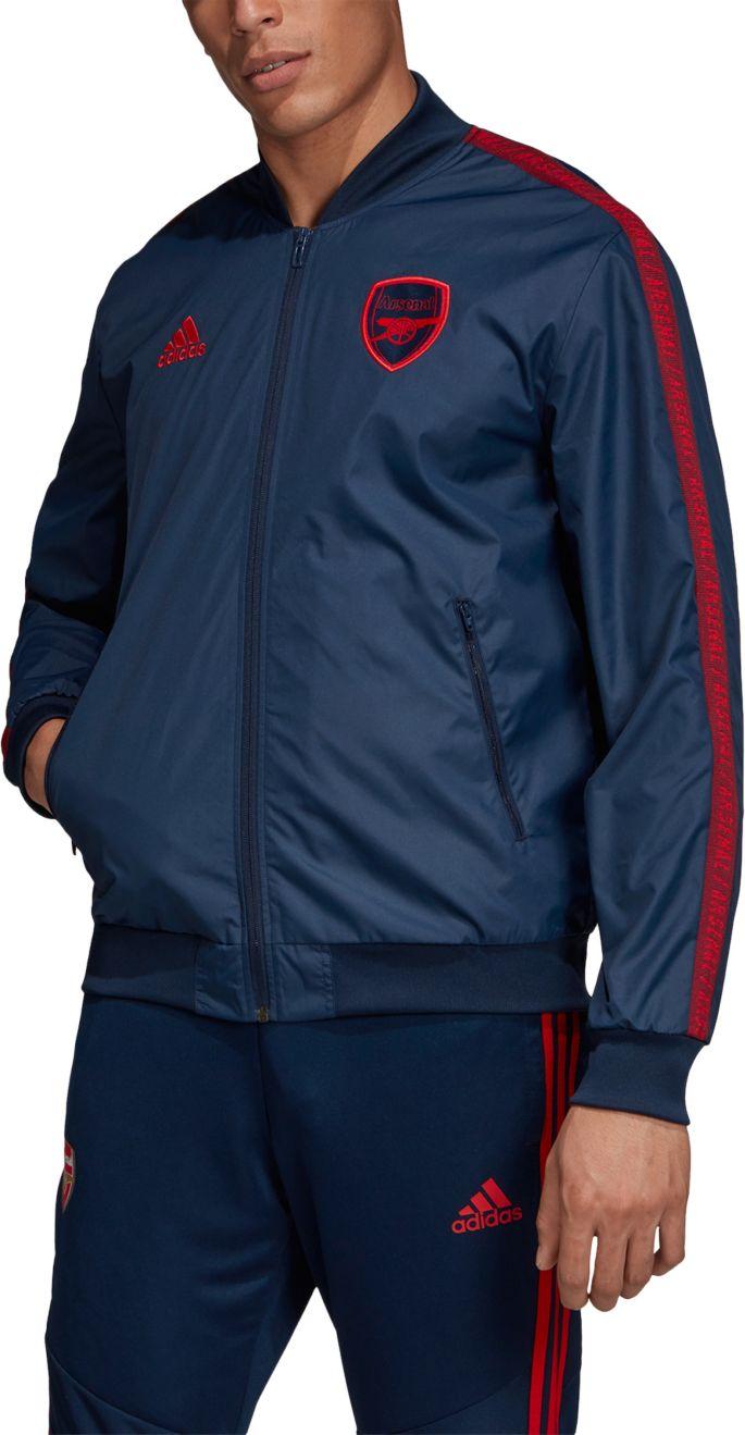 adidas Men's Arsenal Anthem Navy Full Zip Jacket
