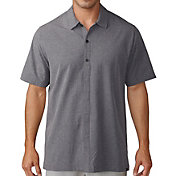 adidas Men's Adicross Woven Oxford Short Sleeve Golf Shirt