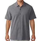 adidas Men's Adicross Woven Oxford Short Sleeve Golf Shirt